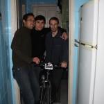Em casa, com Julio e Anderson